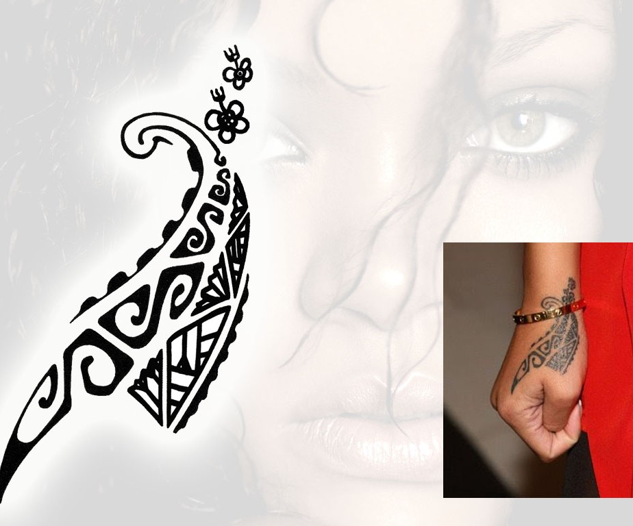 Rihanna Tribal Hand Tattoo Design photo - 1