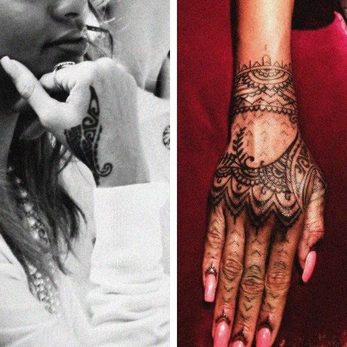 Rihanna Tribal Hand Tattoo Design photo - 2