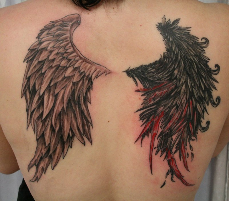 Sad Angel Tattoo Design For Men photo - 3