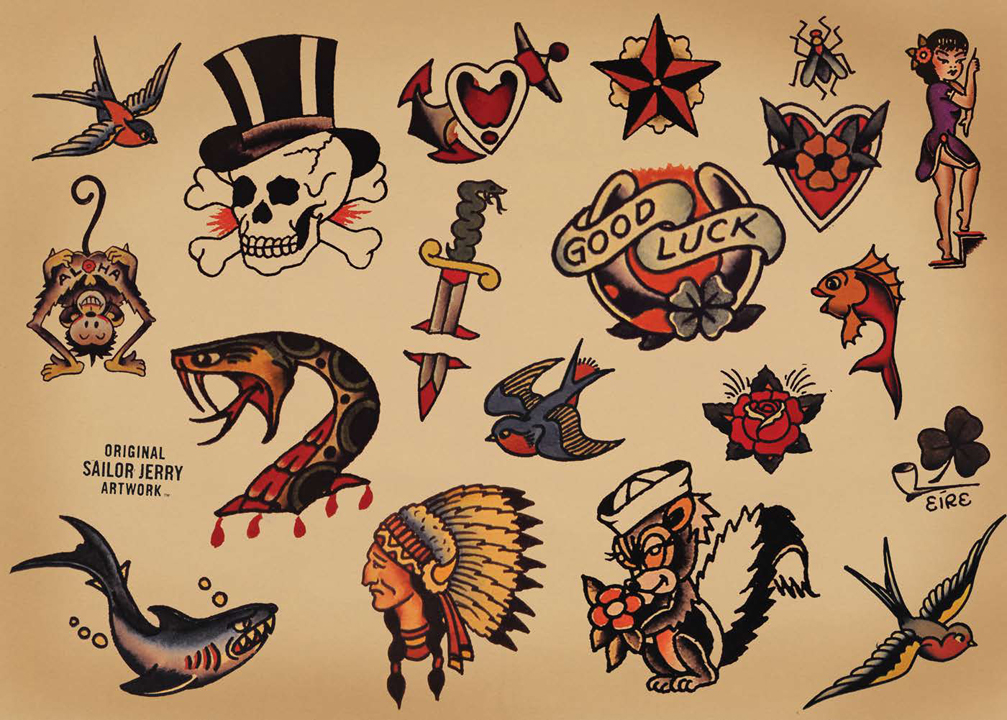 Sailor Jerry Traditional Tattoo Flash Set photo - 1