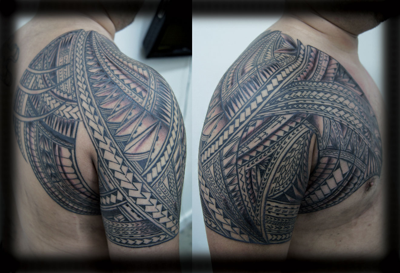 samoan chest and shoulder tattoos in 2017 real photo pictures images and sketches tattoo. Black Bedroom Furniture Sets. Home Design Ideas
