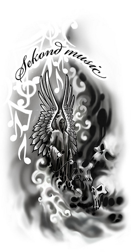 Sekond Music Angel Tattoo Design photo - 1