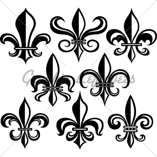 set of tribal fleur de lis tattoo designs in 2017 real photo pictures images and sketches. Black Bedroom Furniture Sets. Home Design Ideas