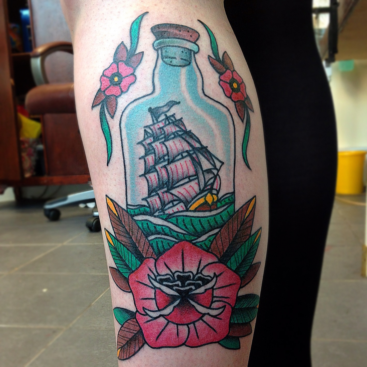 Ship In The Bottle Tattoo photo - 1