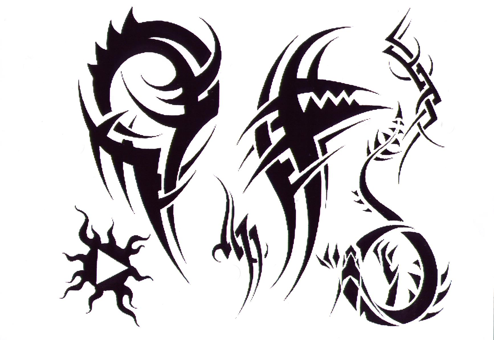 Simple Tribal Bat Tattoo Design photo - 3