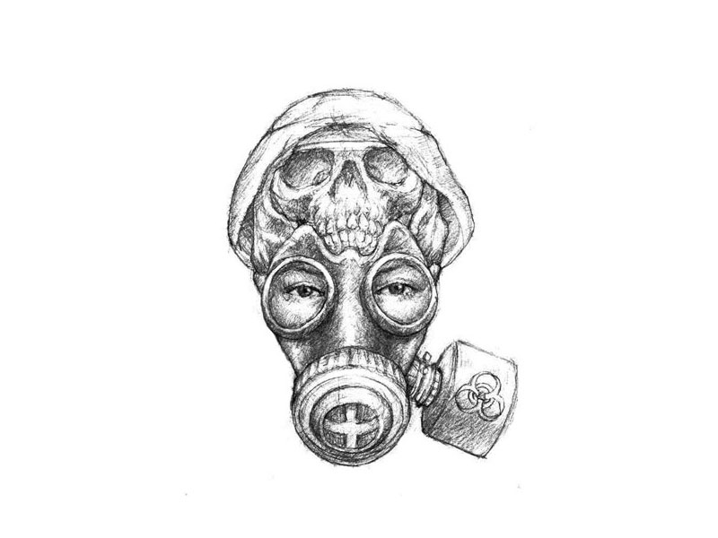 Skull Masks Tattoo Design photo - 1