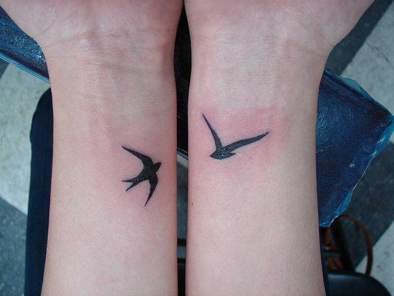 Small Angel Wing Tattoo Design On Ankle photo - 3