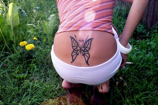Stunning Tribal Butterfly Tattoo Design photo - 3