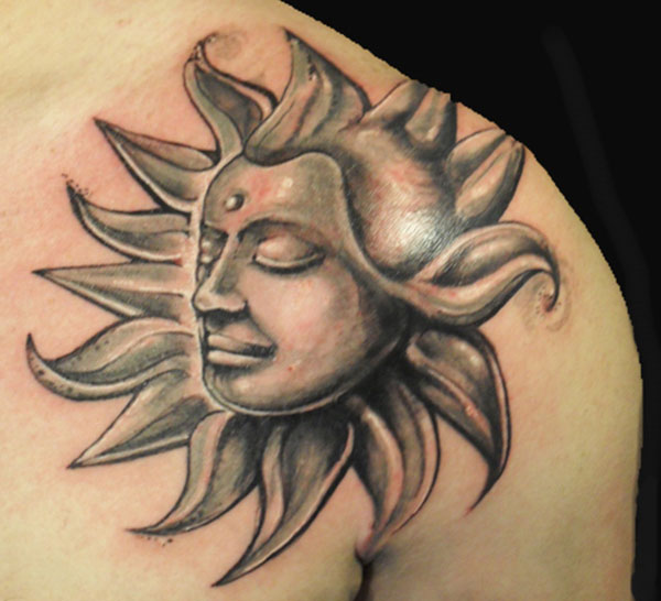 Sun And Moon Tattoos On Forearms photo - 2