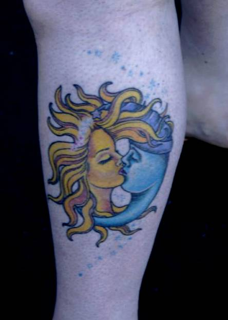 Sun And The Moon Together Tattoo Design photo - 3