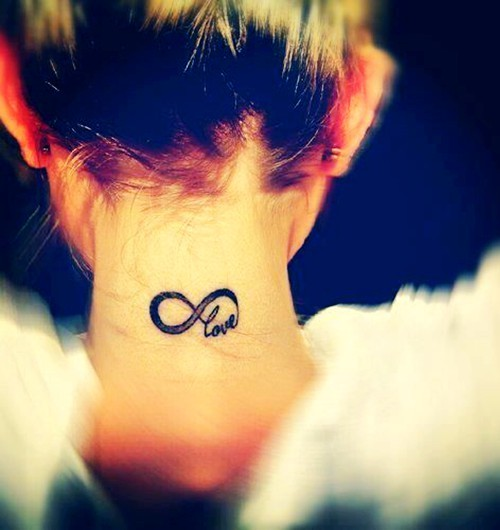 Sweet Infinity Back Neck Tattoo photo - 1