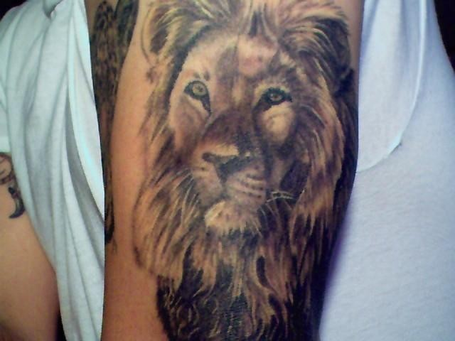 The Lion King Tattoo On Neck photo - 2