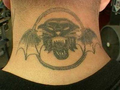 Tiger Army Tattoo On Neck Back photo - 1