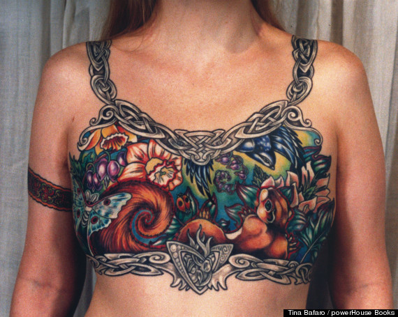 Topless Back With 3D Wings Tattoo photo - 1