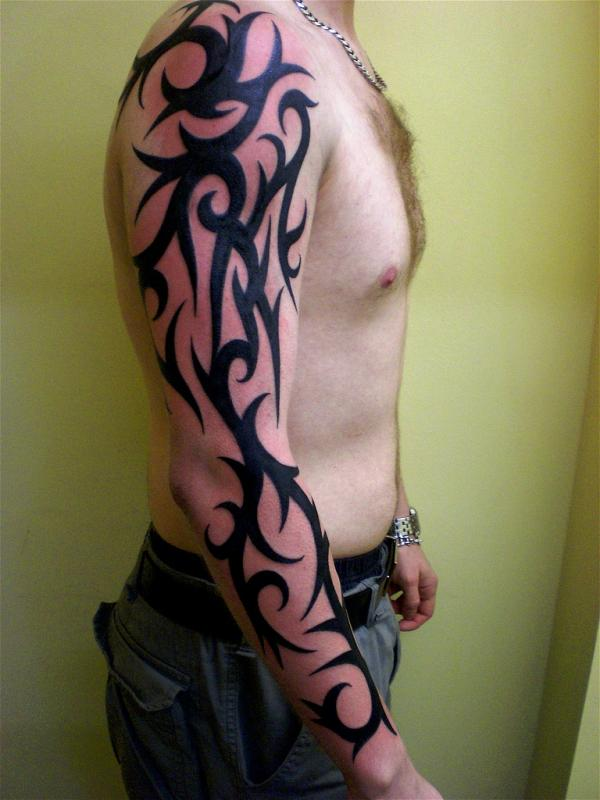 Traditional Custom Tribal Arm Tattoo photo - 1