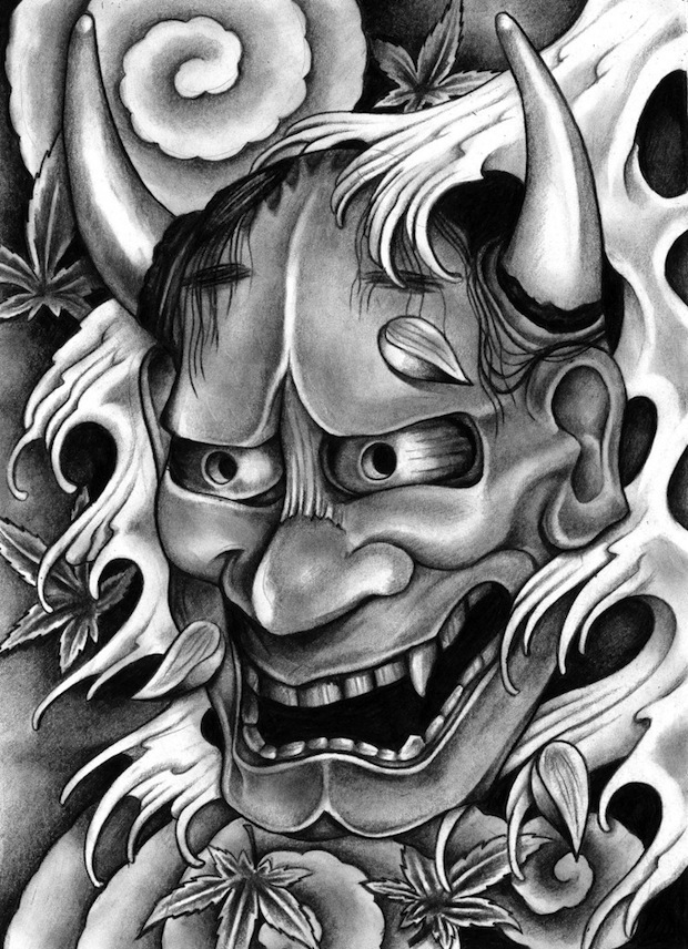 Traditional Hannya Mask Tattoo Design photo - 3