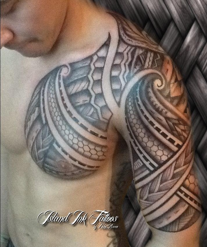 Traditional Tribal Lizard Tattoo On Leg photo - 1