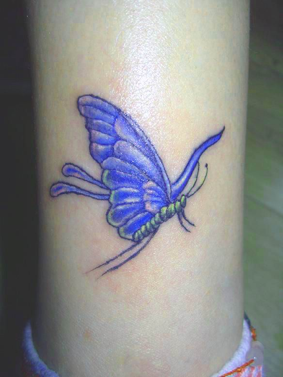 Trendy 3D Butterfly Tattoo For Women photo - 2