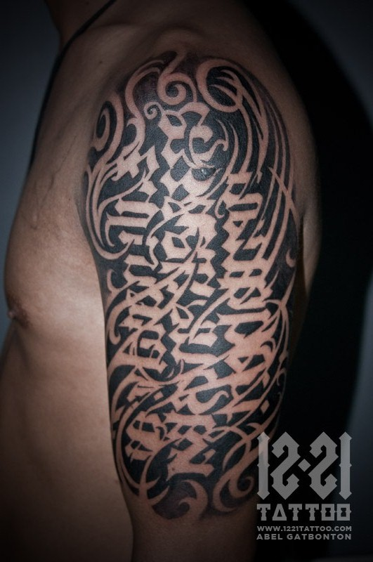 Tribal Ambigram Tattoo Design photo - 2