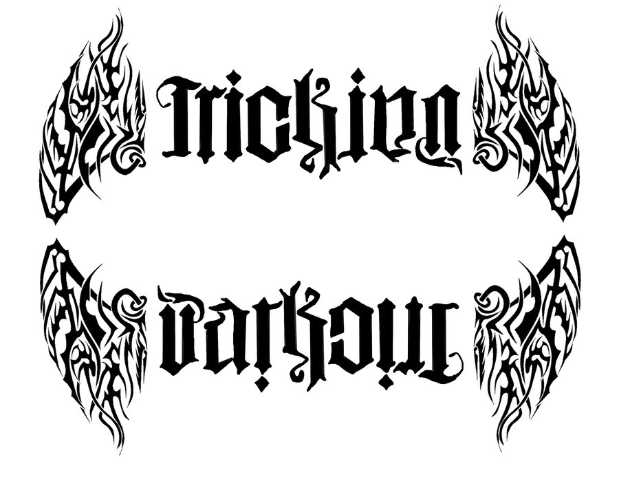 Tribal Ambigram Tattoo Design photo - 3