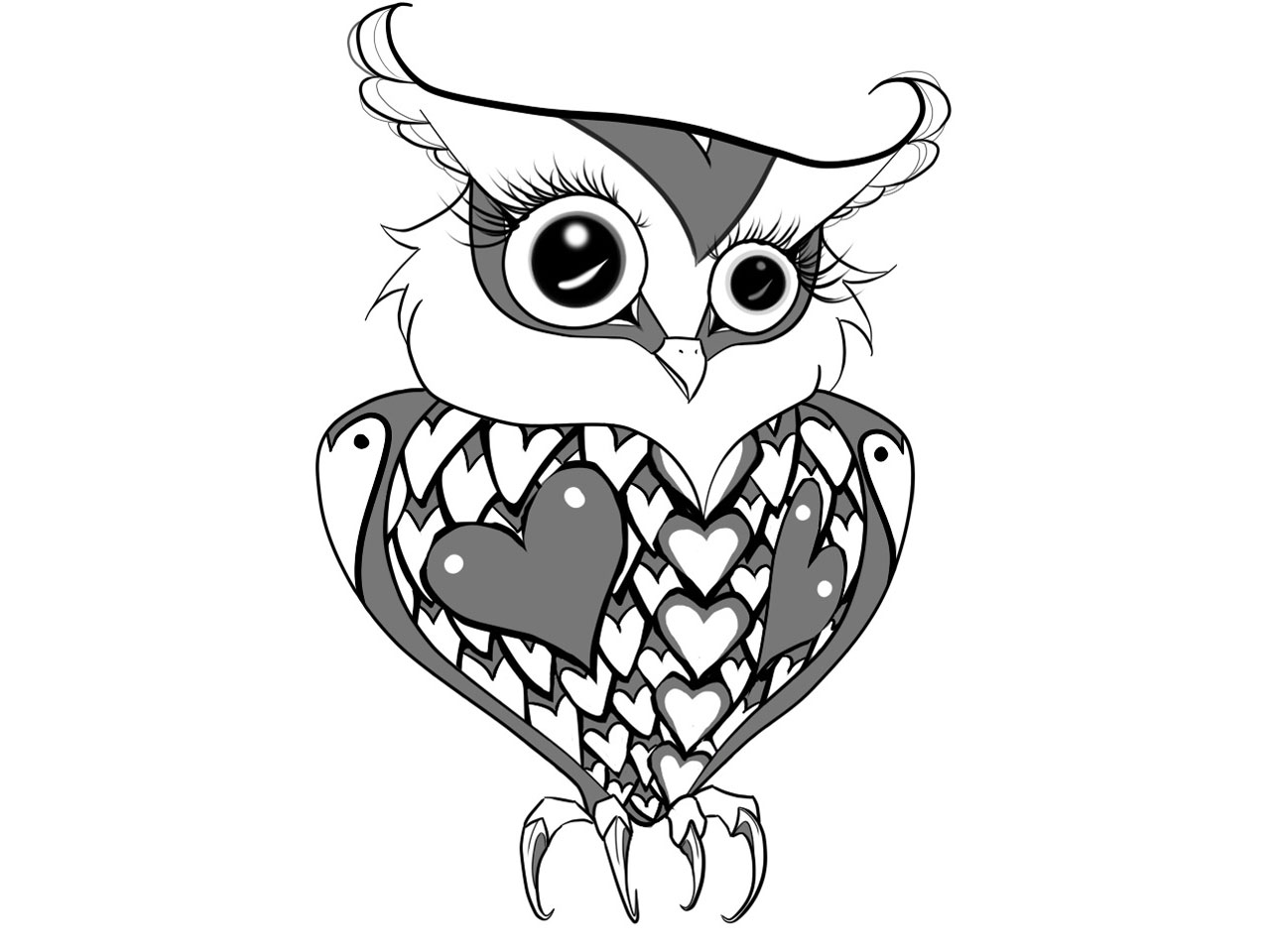 Tribal And Owl Tattoo Designs photo - 1