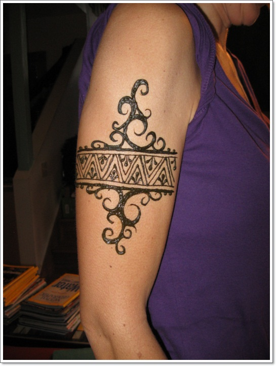 Tribal Armband Tattoo For Guys On Right Biceps photo - 3