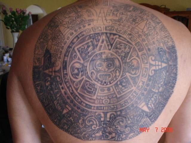 Tribal Aztec Indian Tattoo On Arm photo - 3