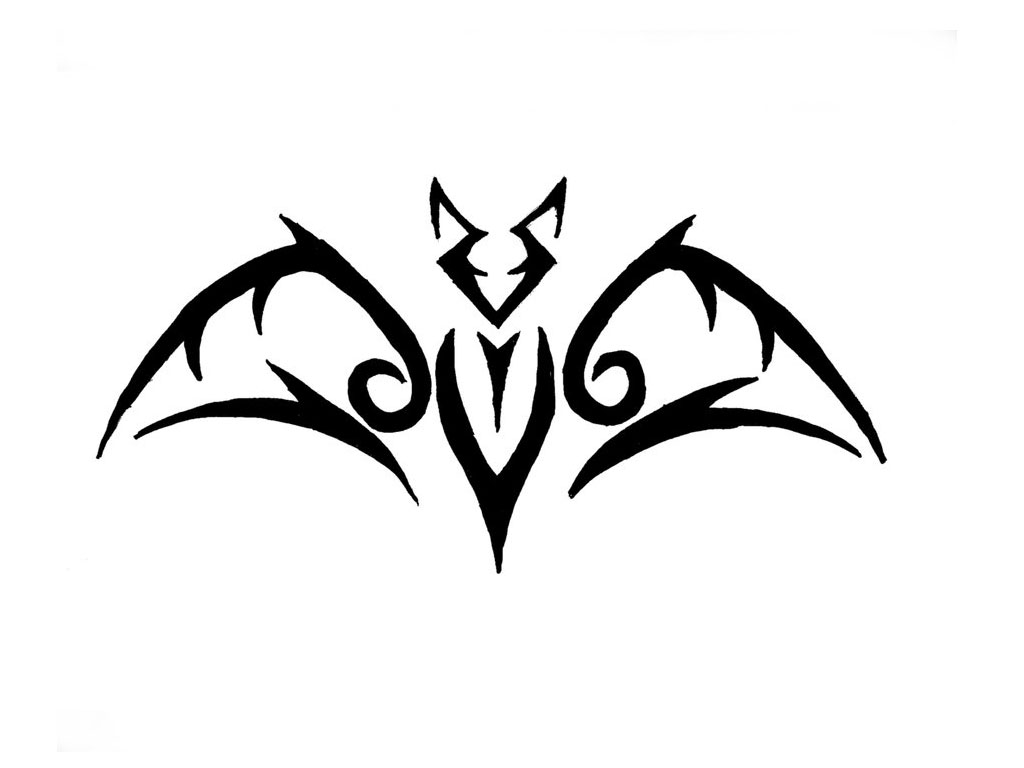 Tribal Bat Tattoo Design photo - 3