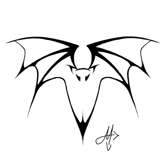 Tribal Bat Tattoo Sample photo - 2