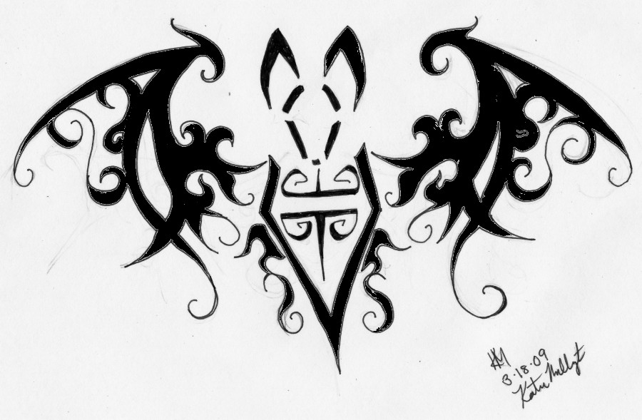 Tribal Bat Tattoo Sample photo - 3
