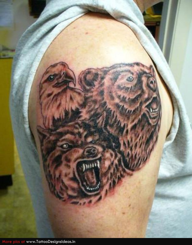 Tribal Bear Tattoo photo - 2