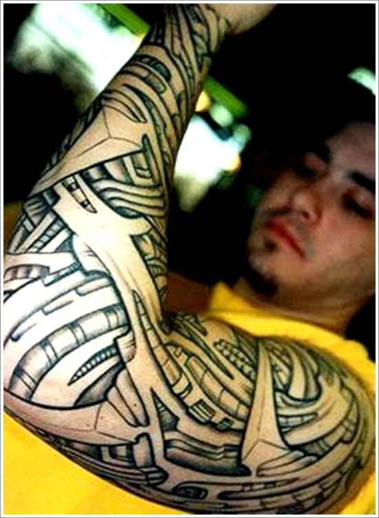 Tribal Biomechanical Tattoo photo - 3