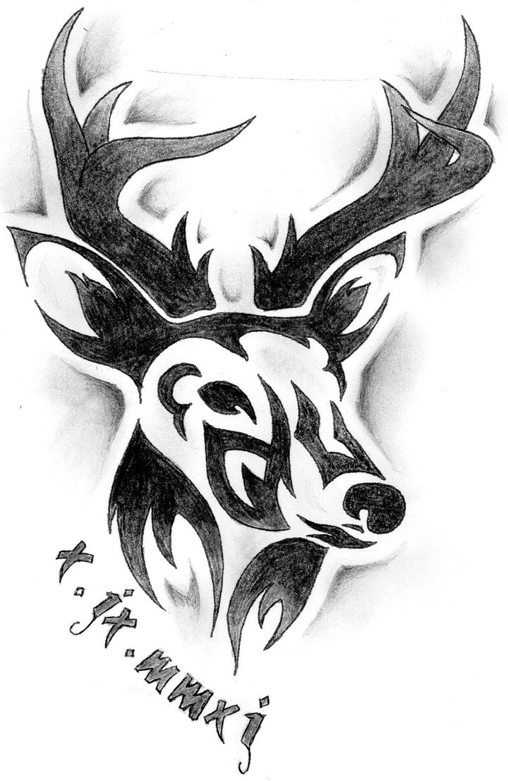 Tribal Buck Tattoo Design photo - 3