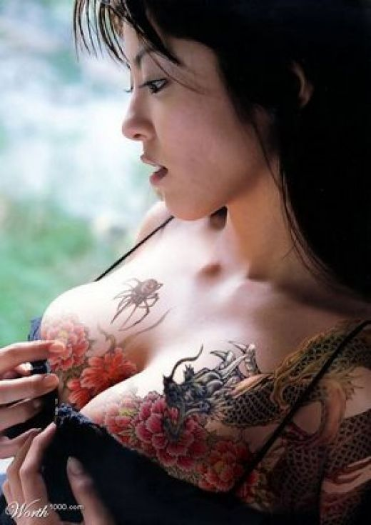 Tribal Butterfly Breast Cancer Tattoo photo - 2