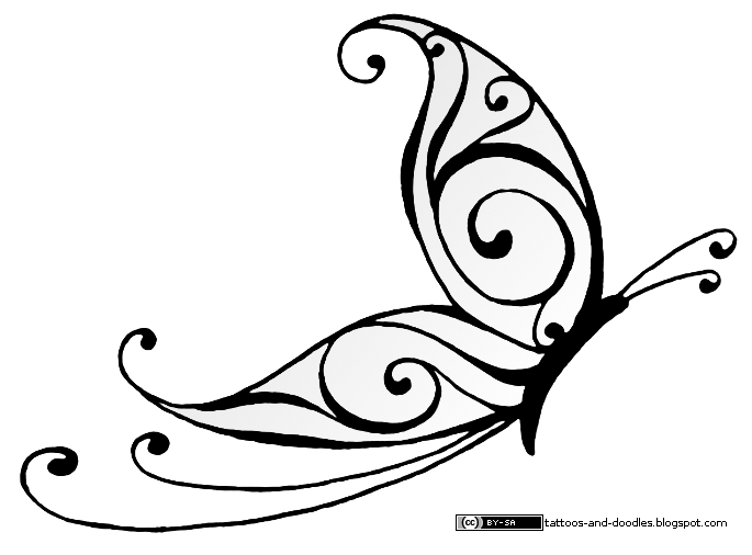 Tribal Butterfly Tattoo Design photo - 2