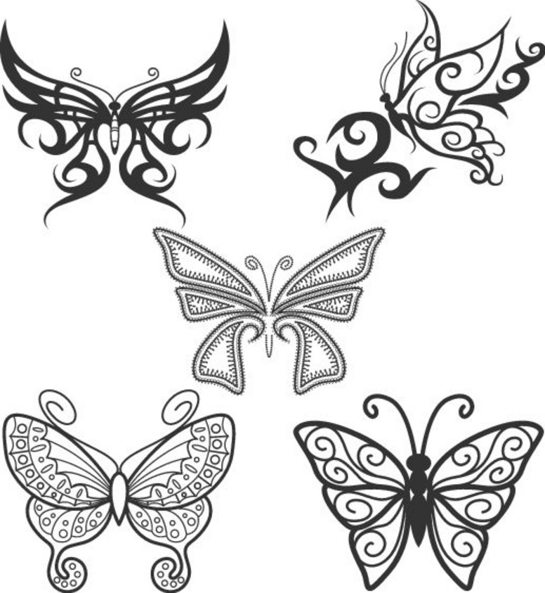 Tribal Butterfly Tattoo Flash photo - 2