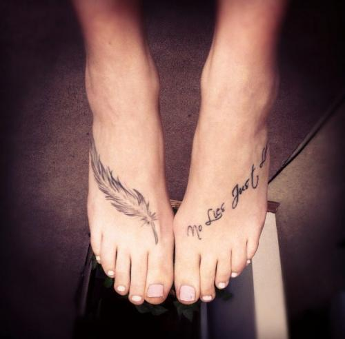 Tribal Butterfly Tattoo On Foot photo - 3