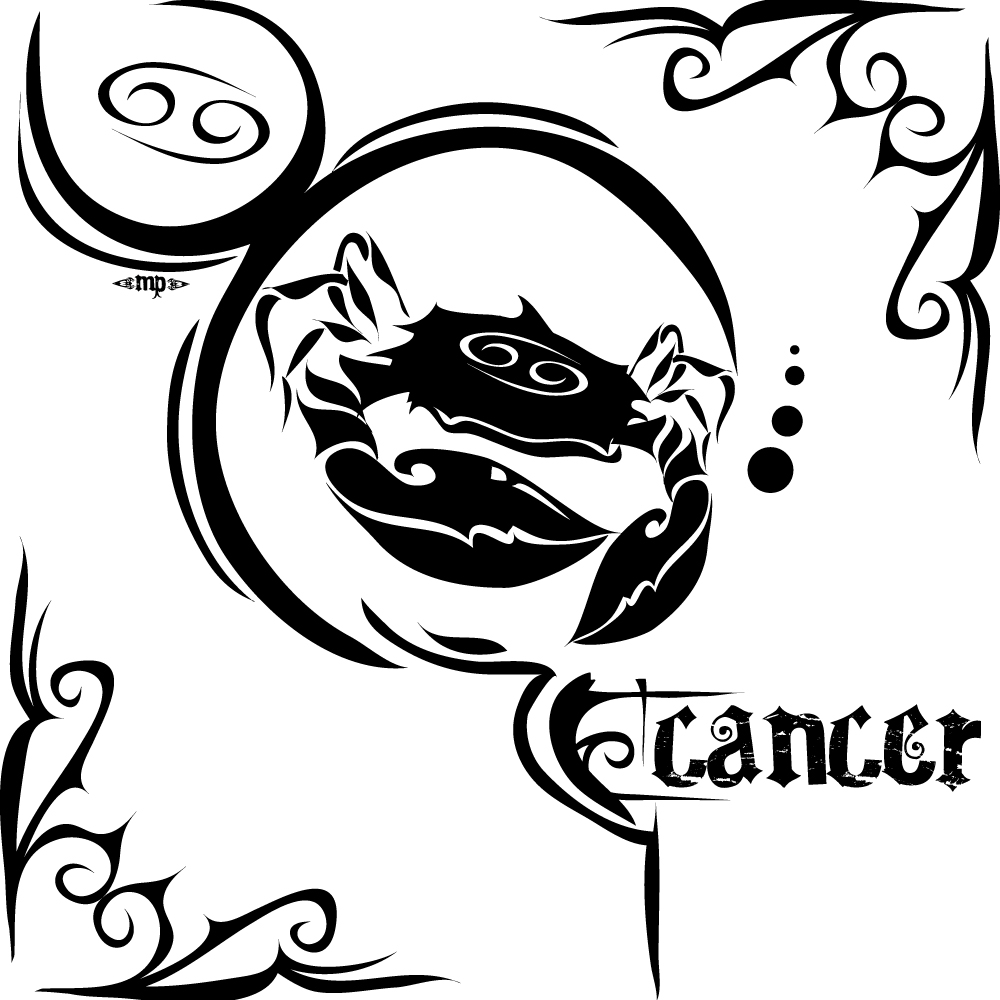 Tribal Cancer Sign Tattoo Design photo - 3