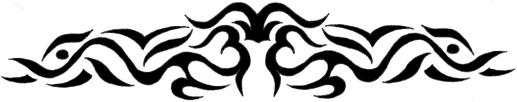 Tribal Cherry Tattoo For Lower Back photo - 1