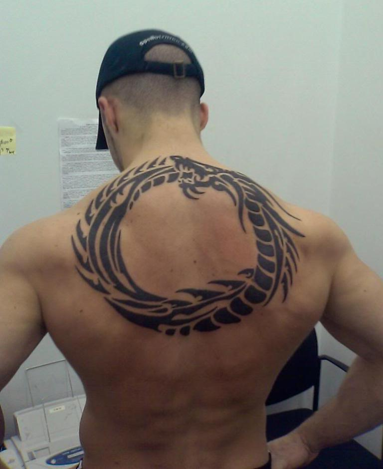 Tribal Circle Tattoo For Back photo - 1