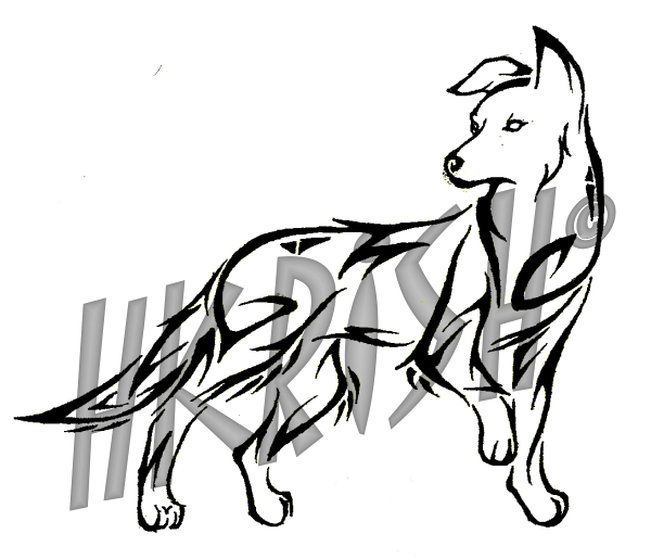 Tribal Dog Tattoo Sample photo - 1