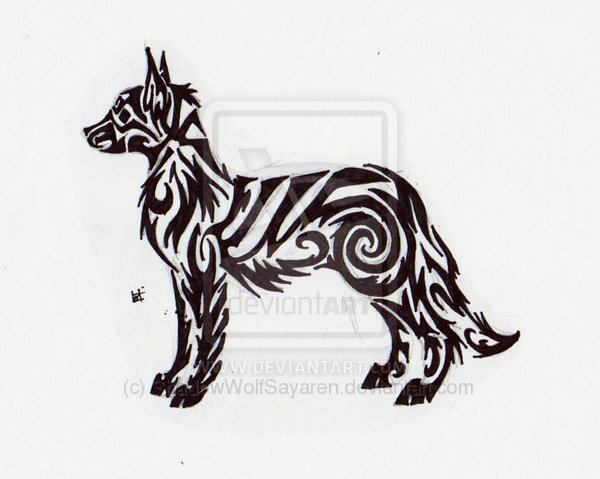 Tribal Dog Tattoo Sample photo - 3