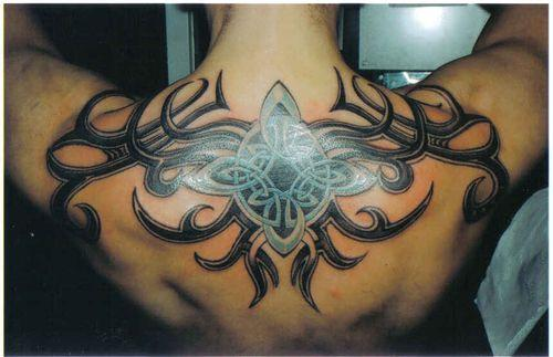 Tribal Dragon Tattoo On Back Shoulder photo - 3
