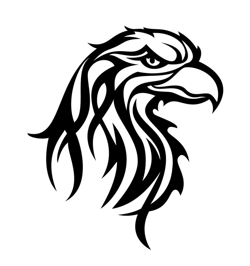 Tribal Eagle Head Tattoo photo - 2