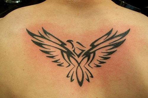 Tribal Eagle Tattoo On Lower Back photo - 1