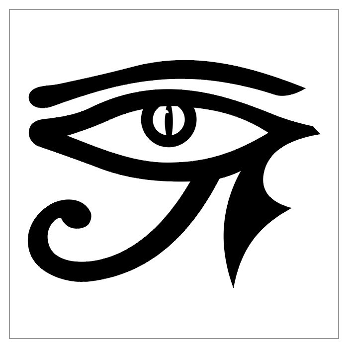 Tribal Eye Tattoo Stencil photo - 1