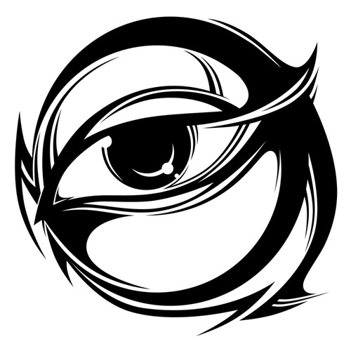 Tribal Eye Tattoo Stencil photo - 2