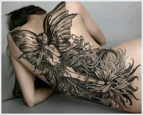 Tribal Fairy And Flower Tattoo Designs photo - 2