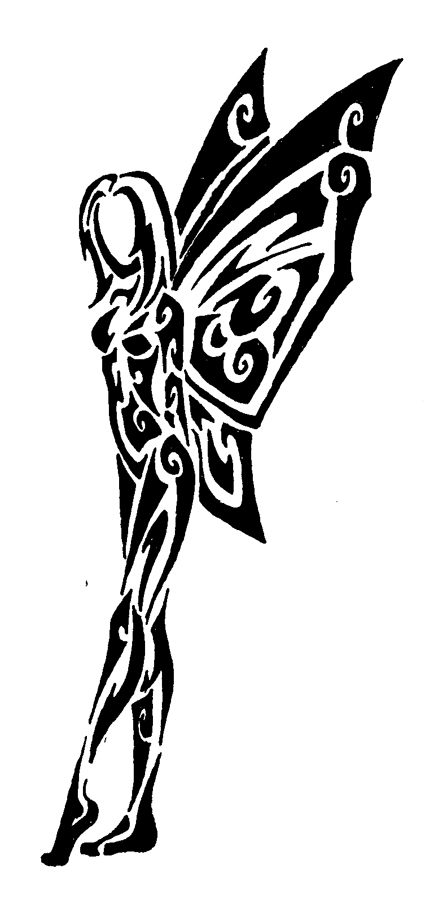 Tribal Fairy And Flower Tattoo Designs photo - 3