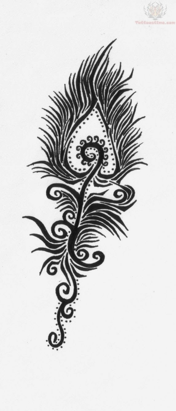 Tribal Feather Tattoo Design photo - 1